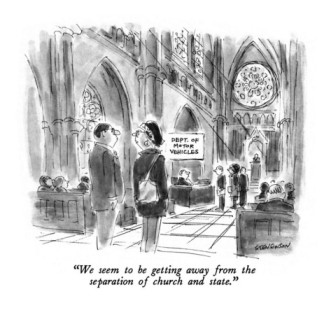 james-stevenson-we-seem-to-be-getting-away-from-the-separation-of-church-and-state-new-yorker-cartoon